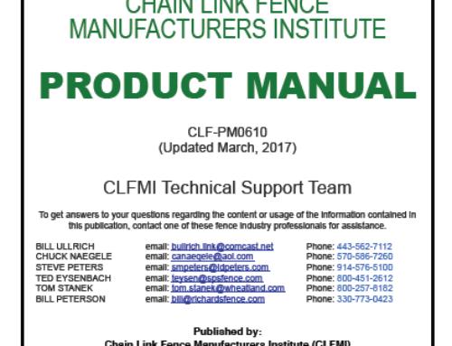 CLFMI Product Manual 2017 Editions
