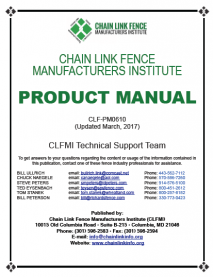 CLFMI - Product Manual Updated in March 2017